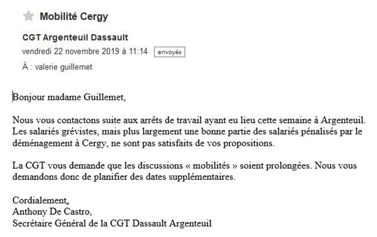 Cgt Dassault Argenteuil